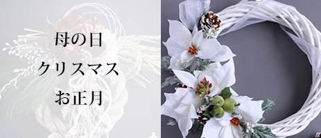 母の日・クリスマス・お正月